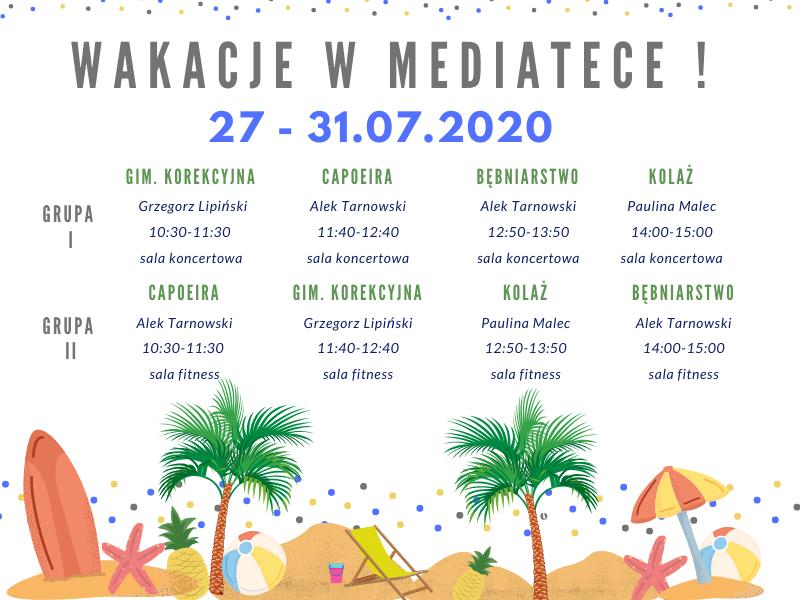 Letnie zajęcia w Mediatece