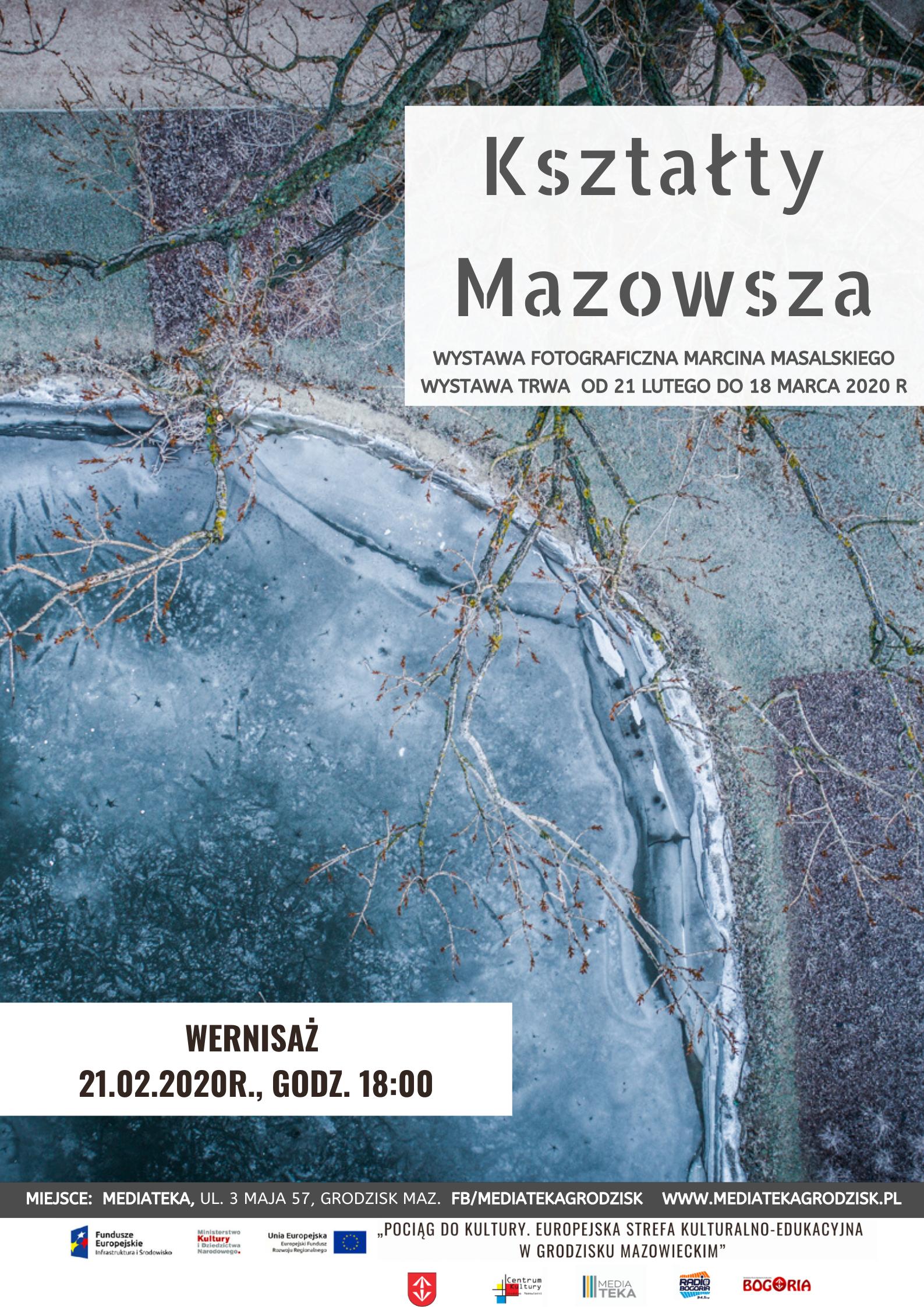 Plakat informujący o wystawie