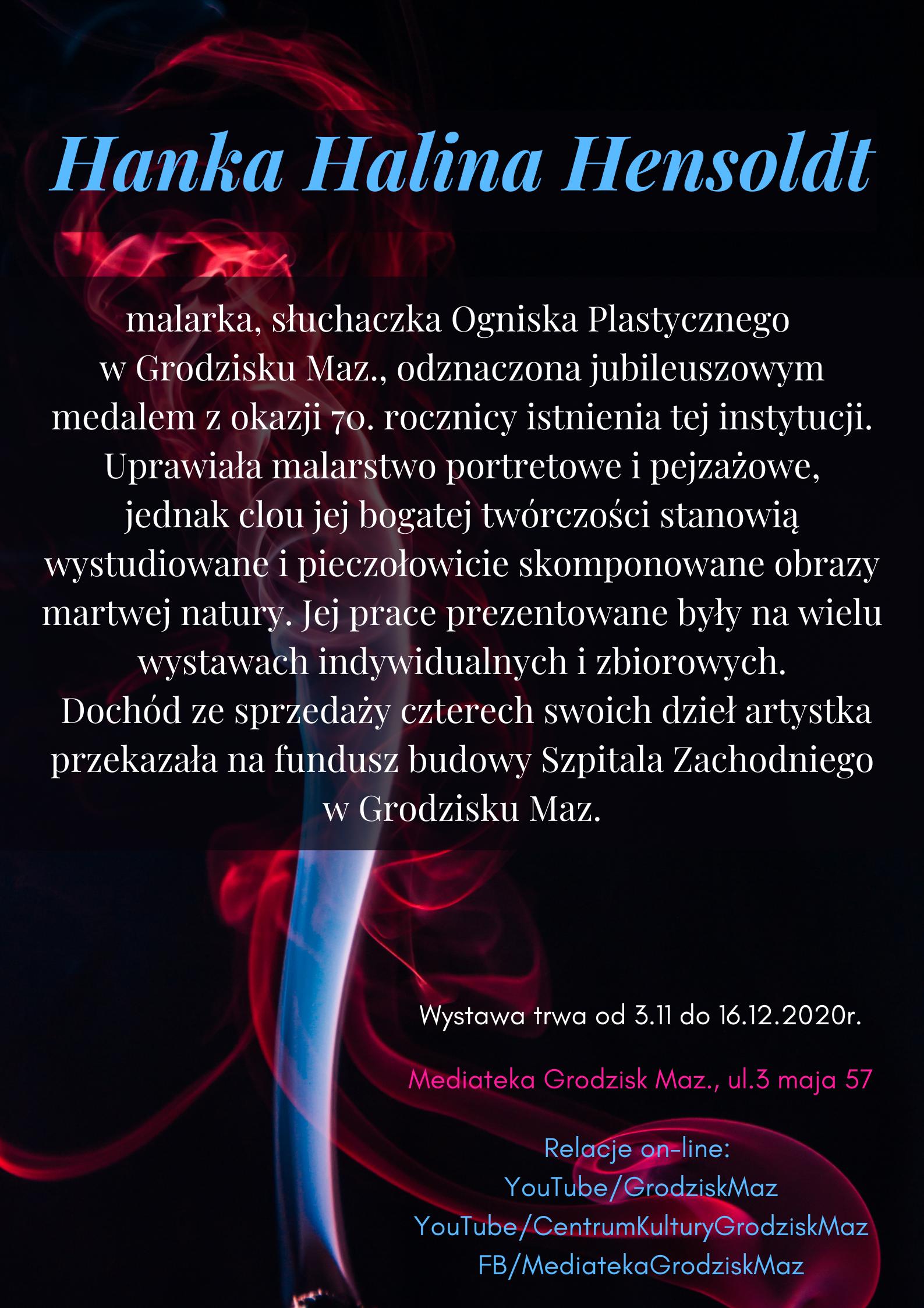 """""""To będzie na wieczność"""" wystawa pamięci grodziskich artystów – Hanna Hensoldt"""