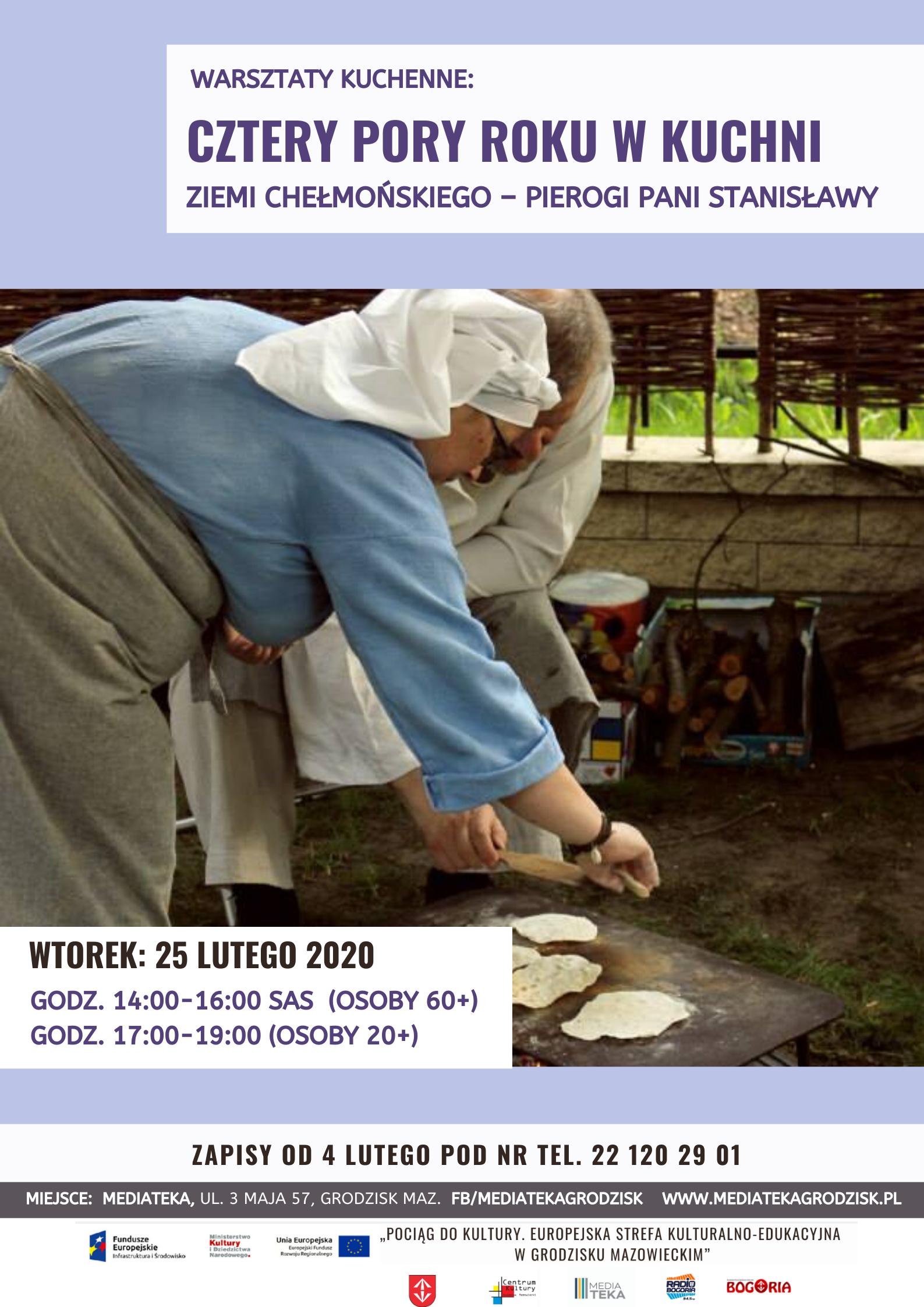 Plakat informujący o warsztatach