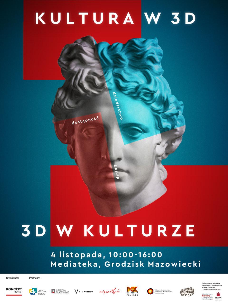 Plakat konferencji Kultura w 3D