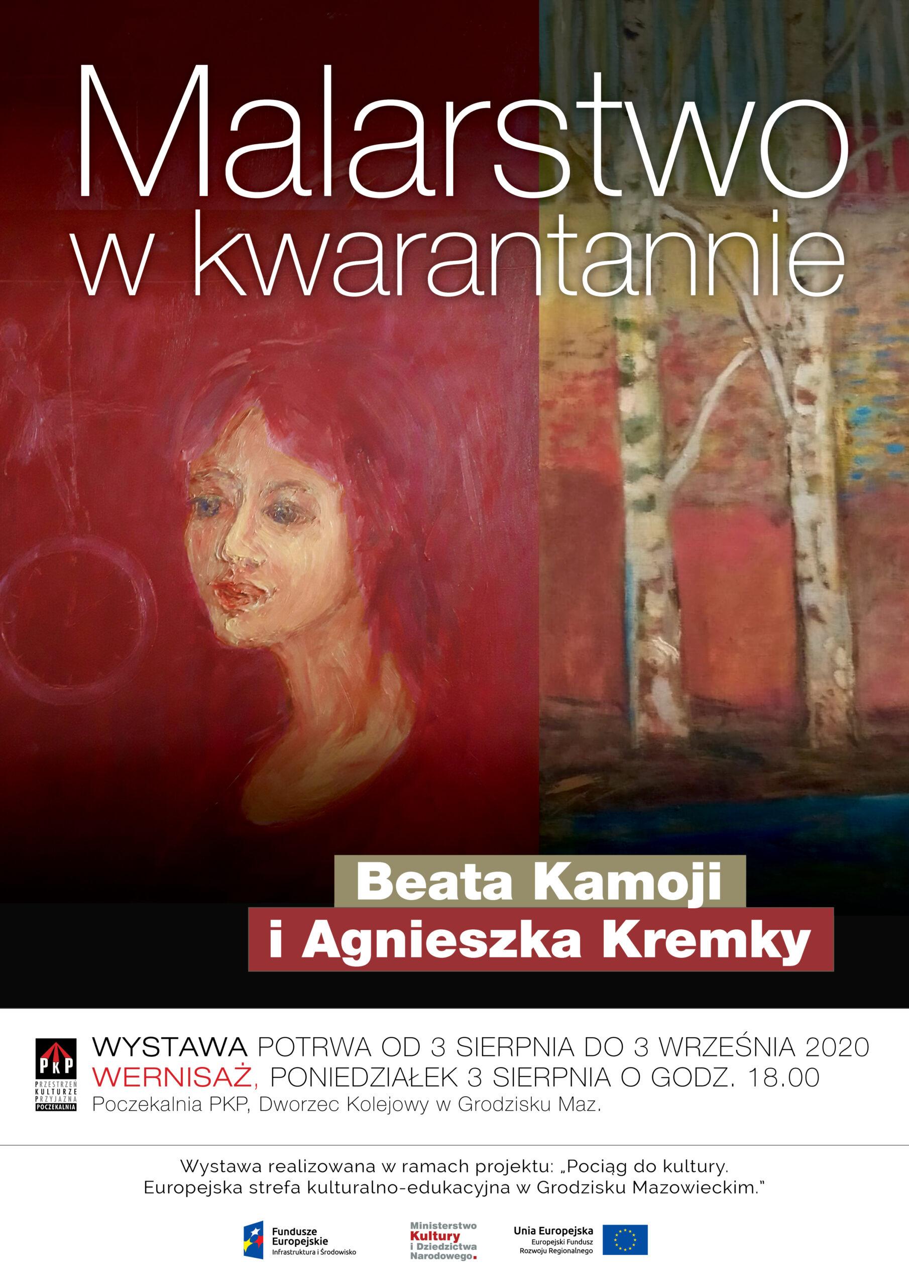 Malarstwo w kwarantannie – Agnieszka Kremky i Beata Kamoji