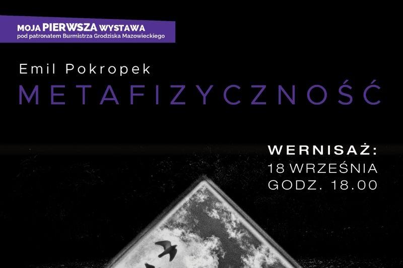 Zaproszenie na wernisaż Emila Pokropka