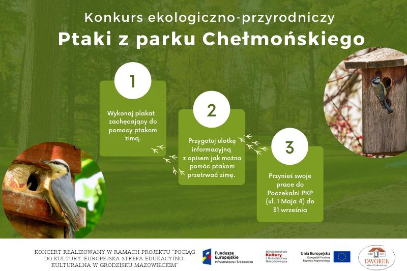 """Konkurs ekologiczno-przyrodniczy ,,Ptaki z parku Chełmońskiego"""""""