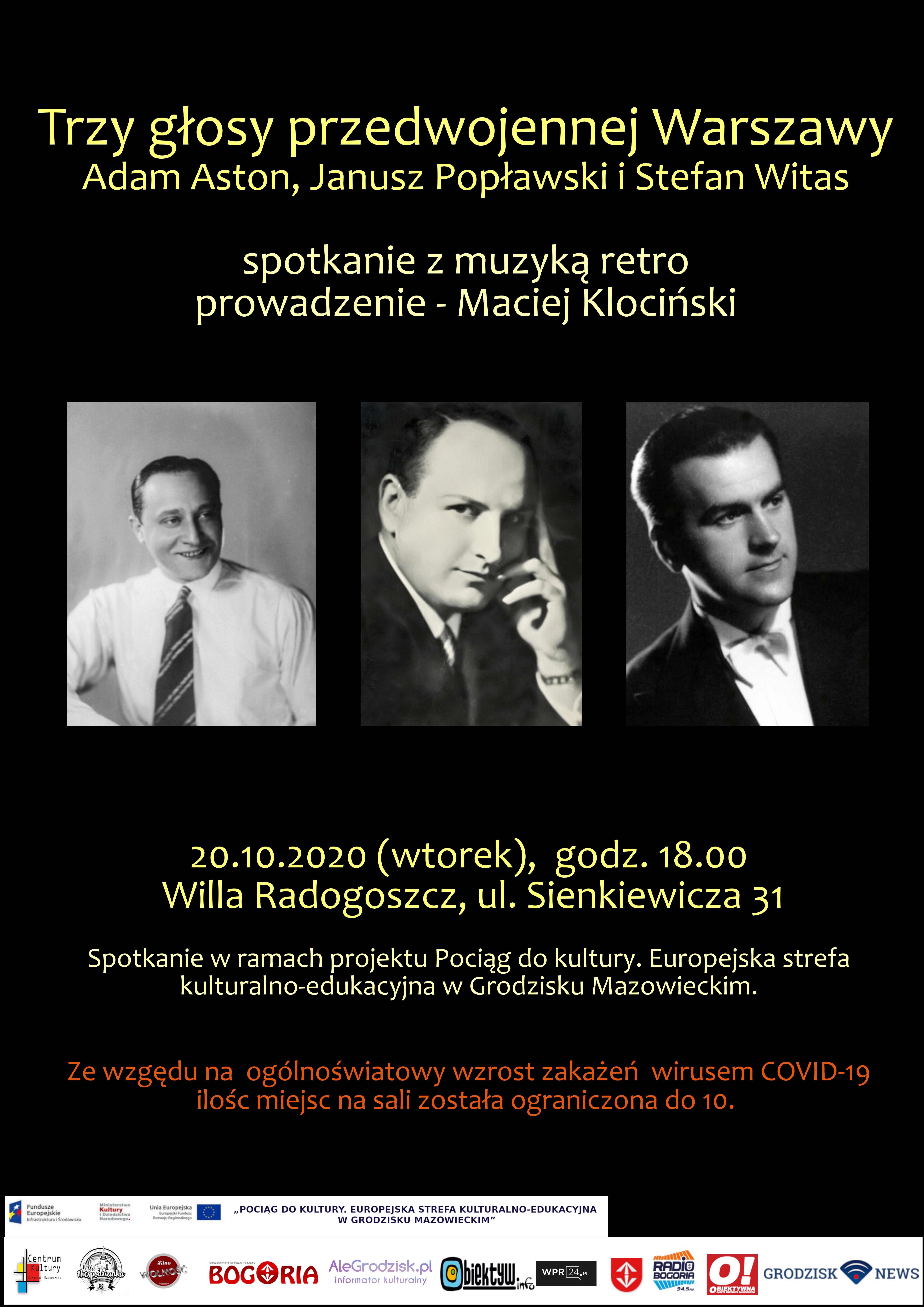 plakat spotkania z muzyką retro prowadzoną przez Macieja Klocińskiego