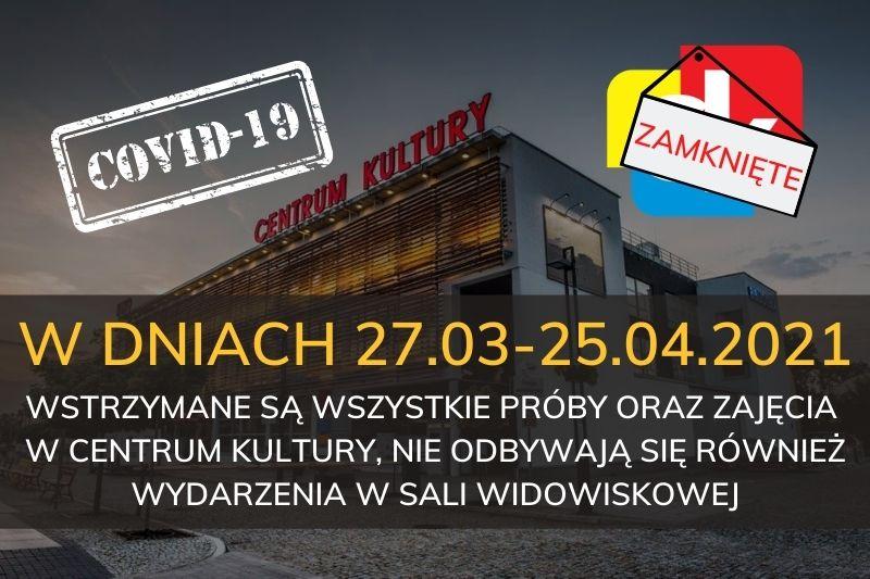 Informacje o zamkniętych placówkach  na terenie miasta